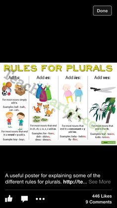 Great poster to explain plurals Cool Words, Ads, Poster, Posters, Movie Posters