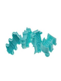 TANGCHU 3d Cookie Cutters Cake Decoration Mould Robot Set Of 4 Pieces 1.96*1.57 Blue * Unbelievable  item right here! : Small Pastry Molds