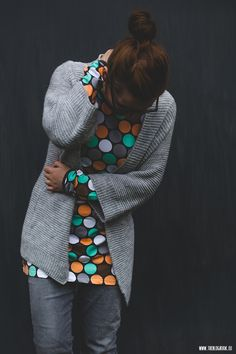 theblogbook | sewing | dotted sweat dress, lillestoff