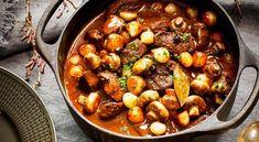 Portergryta med älg och potatispuré med rotselleri Kung Pao Chicken, Hjort, Beans, Food And Drink, Vegetables, Cooking, Ethnic Recipes, Kitchen, Antibes