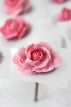 #NEW VIDEO ALERT: How to Pipe and Color Royal Icing Roses by Julia M Usher of Recipes for a Sweet Life