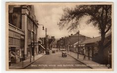 """""""RHUL"""" PICTURE HOUSE AND BURNSIDE TERMINUS, RUTHERGLEN: Lanarks postcard (C18156 in Collectables, Postcards, Topographical: British 