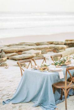 Beach Wedding Tables, Blue Beach Wedding, Seaside Wedding, Nautical Wedding, Dream Wedding, Beach Weddings, Destination Weddings, Sea Wedding Theme, Wedding Reception