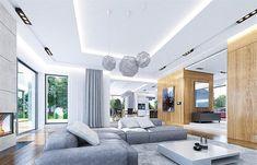 Home Room Design, Dream Home Design, Modern House Design, Interior Design Living Room, Earthy Living Room, Home Living Room, One Storey House, Plans Architecture, Beautiful House Plans