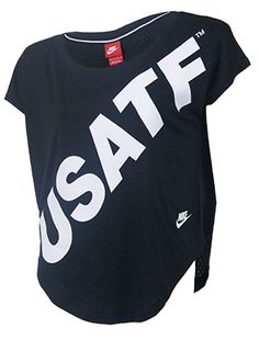 11a89b14b6 Nike USATF Women s Signal Text Stripe Tee Team Gear