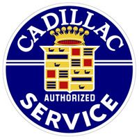 Large Cadillac Authorized Service Sign  http://www.retroplanet.com/PROD/36601