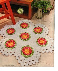 Mania-de-Tricotar: Tapete florês!!!  http://mania-de-tricotar.blogspot.com/