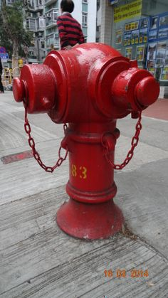 Iconic Hong Kong Fire hydrants