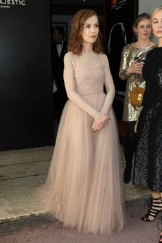Isabelle Huppert in Dior Spring 2017 Couture at the 'Majestic' hotel during the 70th annual Cannes Film Festival on May 22 2017 in Cannes France