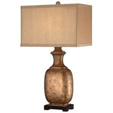 1 Light Table Lamp with Rectangular Shade