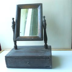 Hey, I found this really awesome Etsy listing at https://www.etsy.com/listing/191402930/antique-wooden-shaving-mirror-with