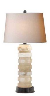 OVAL STACKED TABLE LAMP