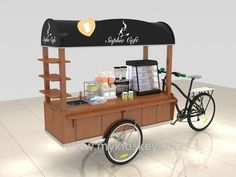 Unique Kiosk is a Professional Food Cart Manufacturer, We Supply Custom Bike Food Cart For Sale, Mobile Concession Stand Design For USA & Canada. Mobile Coffee Cart, Mobile Food Cart, Food Cart Business, Coffee Business, Coffee Carts, Coffee Shop, Food Carts For Sale, Organic Food Bar, Food Cart Design