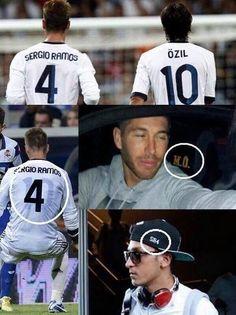 Niemiec ma znak Ramosa na czapce, a Hiszpan ma znak Oezila w swoim samochodzie • Sergio Ramos i Mesut Oezil najlepszymi przyjaciółmi >> #football #soccer #sports #pilkanozna #ozil #ramos