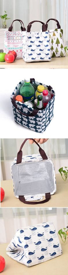 $4.99  5 Fresh Pastoral Simplicity Style Waterproof Canvas Hand-held Lunch Bag Storage Bags