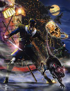 Interpretation of Abad Alfau y la calavera/and the Skull by Artist-Illustrator Ray Wu