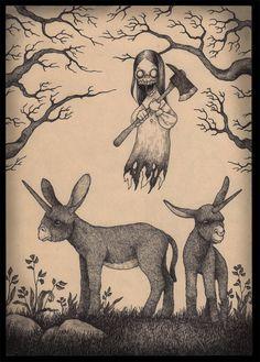 Creepy art by john kenn mortensen john kenn çizim, sanatsal Monster Art, Monster Drawing, Arte Post It, Post It Art, Art And Illustration, Arte Horror, Horror Art, Creepy Drawings, Art Drawings