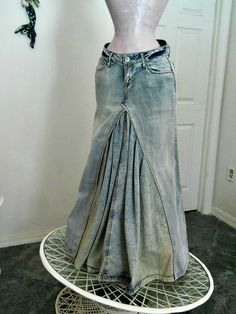 mermaid jean skirt Renaissance Denim Couture by bohemienneivy