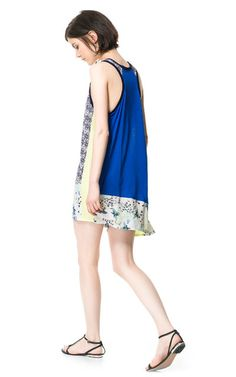 FLORAL PATCHWORK DRESS - Woman - New this week - ZARA Italy
