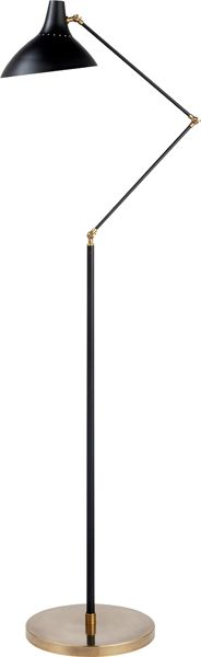 CHARLTON FLOOR LAMP, by Aerin - love the mid-century modern feel of this lamp.