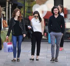 The MOTHER OF DRAGONS, Ygritte, and Jon Snow having a stroll.