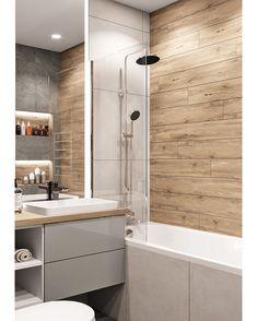 51 Ideas bathroom shower remodel diy living rooms for 2019 Bathroom Design Small, Bathroom Interior Design, Modern Bathroom, Restroom Design, Small Bathrooms, Interior Design Living Room Warm, Tub To Shower Remodel, Laundry In Bathroom, Bathroom Flooring