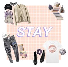 """""""Stay here // Stay near"""" by geeway-is-emo-god ❤ liked on Polyvore featuring Pillow Pets, INDIE HAIR, October's Very Own, Fendi and Seletti"""
