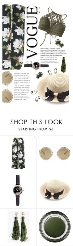 """""""I am a plant"""" by fanfanfanfannnn ❤ liked on Polyvore featuring Warehouse, Dolce&Gabbana, Olivia Burton, Giorgio Armani and Summer"""