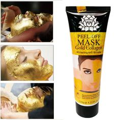 24K Golden Face Mask Peel off Mask Anti Wrinkle Anti Aging Facial Mask Face Care Whitening Skin Care Face Lifting Firming S127