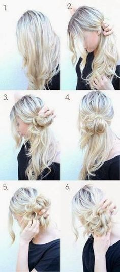 This hairstyle is messy but classy at the same time. BohoChic bun