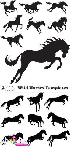 Vectors - Wild Horses Templates