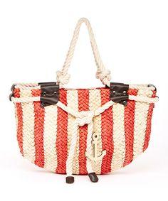 e7cdf06bf1 Red  amp  White Stripe Sailor Tote by