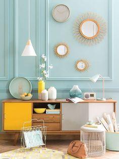 Caravan Design 344806915206186858 - tendance deco mint lemon menthe citron Source by kiwiyu Yellow Interior, Style Deco, Industrial Home Design, Retro Home Decor, Yellow Home Decor, Affordable Furniture, Home And Deco, Home Decor Inspiration, Room Decor