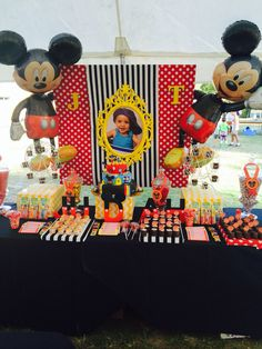 Judah's 1st Birthday Mickey Mouse Candy Buffet