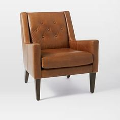 Library Leather Chair, http://www.westelm.com/products/library-leather-chair-h1463/?pkey=cliving-room-chairs%7C%7C4294963553&group=1&sku=8798543