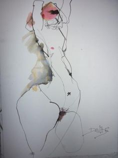 Life drawing, disproportionate figure dealing with form and movement