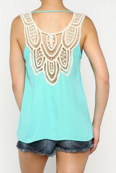 $33 Crochet Back Tank | The District Boutique #fashion #boutiquefashion #lovethedistrict