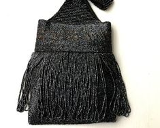 benji boy vintage by benjiboyvintage on Etsy Unique Vintage, Vintage Black, Fringe Purse, Vintage Purses, Beaded Bags, Caviar, Vintage Accessories, Seed Beads, Dress Up