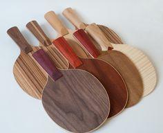 make a ping pong paddle  frescobol/matkot paddles for the beach?