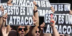 Lemonde: Malos aires en España.  Une manifestation spontanée de fonctionnaires, dimanche à Madrid, a donné lieu à un concert de tweets rendant hommage aux employés du secteur public.