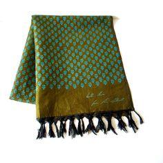 60s silk batik scarf