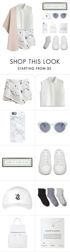 """""""One Fine Day"""" by mathildasarah on Polyvore featuring Chicwish, Casetify, Madewell, Vintage Playing Cards, Yves Saint Laurent, October's Very Own, Merona, Topshop, Dogeared and MANGO"""