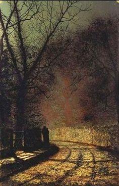 Lovers in a wood - John Atkinson Grimshaw
