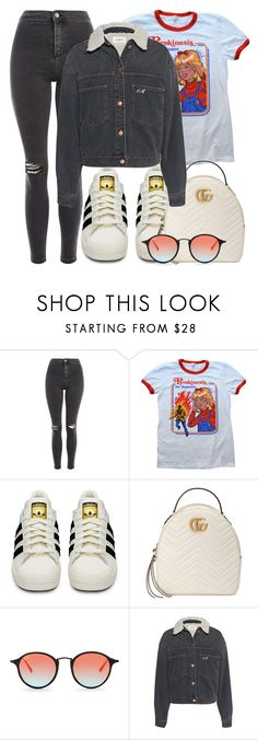 """""""zaylee."""" by inlovewith4idiots ❤ liked on Polyvore featuring Topshop, adidas, Gucci, Ray-Ban and Étoile Isabel Marant"""