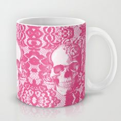 Bubblegum and Lace. Mug by Kristy Patterson Design - $15.00