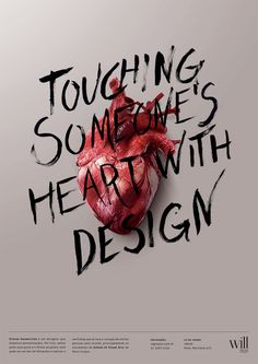 Poster for Workshop Sagmeister Touching Someone's Heart With Design. Stefan Sagmeister, Layout Design, Design Art, Print Design, Web Design, Poster Design Inspiration, Typography Inspiration, Creative Typography, Design Research