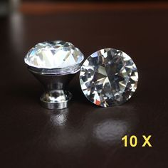Crystal drawer knobs