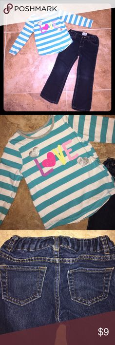 Children's Place outfit Great condition. Smoke free home. Jeans are stretch bootcut. Children's Place Matching Sets