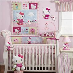 Hello Kitty Baby nursery room,