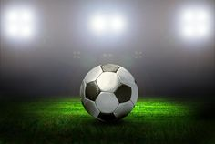 Soccer Ball on the Field of Stadium Sports Wall Decals, Removable Wall Decals, Soccer Ball, European Football, European Soccer, Soccer, Futbol